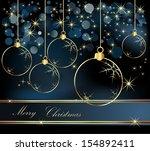 merry christmas  background... | Shutterstock .eps vector #154892411