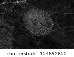 Wet Spiderweb On A Black...