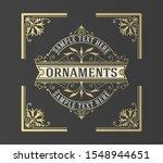 luxury logo template flourishes ... | Shutterstock .eps vector #1548944651