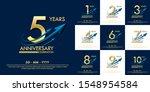 set of 1st 10th elegance golden ... | Shutterstock .eps vector #1548954584
