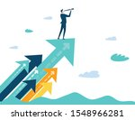 successful businessman standing ... | Shutterstock .eps vector #1548966281