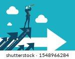 successful businessman standing ... | Shutterstock .eps vector #1548966284