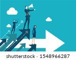 successful businessman standing ... | Shutterstock .eps vector #1548966287