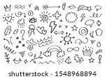 doodle elements. arrows flowers ... | Shutterstock .eps vector #1548968894