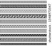 set of seamless black and white ... | Shutterstock .eps vector #1548973547