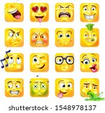 an emoji or emoticon square... | Shutterstock .eps vector #1548978137
