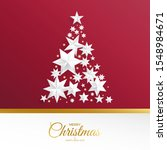 christmas tree made of silver... | Shutterstock .eps vector #1548984671