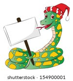 Vector Illustration Of A Snake...