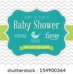 baby shower invitation | Shutterstock .eps vector #154900364