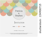 invitation or announcement card | Shutterstock .eps vector #154900715