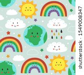 seamless pattern with cute... | Shutterstock .eps vector #1549008347
