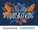 happy thanksgiving day.... | Shutterstock .eps vector #1549016591
