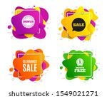 clearance sale symbol. liquid... | Shutterstock .eps vector #1549021271