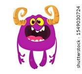 angry cartoon monster. vector... | Shutterstock .eps vector #1549030724