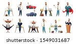 bearded charming business men... | Shutterstock .eps vector #1549031687