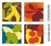 abstract vector fruit and...   Shutterstock .eps vector #154905494