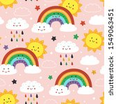 seamless pattern with cute...   Shutterstock .eps vector #1549063451