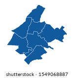 outline blue map of athens   Shutterstock .eps vector #1549068887