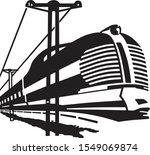 high speed train   modern rail... | Shutterstock .eps vector #1549069874