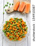 Boiled Carrots With Green Peas...