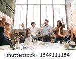 happy asian creative team or... | Shutterstock . vector #1549111154