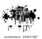 city label over white...   Shutterstock .eps vector #154917287