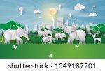 animal wildlife in green park... | Shutterstock .eps vector #1549187201