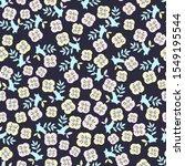 floral pattern in pastel... | Shutterstock .eps vector #1549195544