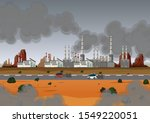 air pollution with factory and... | Shutterstock .eps vector #1549220051