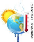 global warming with hot sun... | Shutterstock .eps vector #1549220117