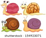 Illustration Of The Four Snail...