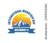 international mountain day... | Shutterstock .eps vector #1549233281