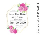floral wedding invitation card  ... | Shutterstock .eps vector #1549244714