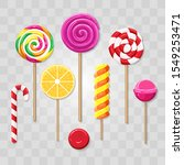 isolated colorful lollipops.... | Shutterstock .eps vector #1549253471