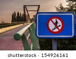 bicycle bridge near a big road | Shutterstock . vector #154926161