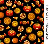 halloween seamless pattern with ... | Shutterstock .eps vector #154929011