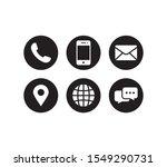 contact us icon set vector.... | Shutterstock .eps vector #1549290731