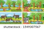background scenes of animals in ... | Shutterstock .eps vector #1549307567