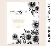 vintage delicate greeting... | Shutterstock .eps vector #1549307954