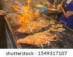 Lobsters Barbecueing At Hua Hin ...