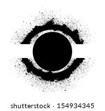 eye shaped circular design... | Shutterstock .eps vector #154934345