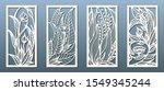 laser cut panel template ... | Shutterstock .eps vector #1549345244