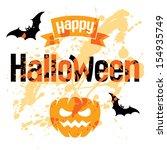 happy halloween  abstract... | Shutterstock .eps vector #154935749