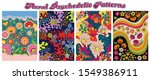 floral psychedelic patterns...   Shutterstock .eps vector #1549386911
