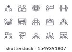 meeting icons set outline style   Shutterstock .eps vector #1549391807