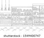 grocery store shop interior... | Shutterstock .eps vector #1549400747