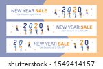 new year sale mobile banner for ... | Shutterstock .eps vector #1549414157