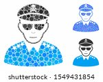 evil army general mosaic of... | Shutterstock .eps vector #1549431854