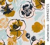 abstract poppy flower seamless...   Shutterstock .eps vector #1549432721