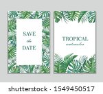 set of frames with tropical... | Shutterstock . vector #1549450517